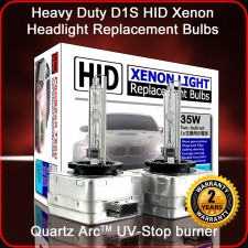 ProGear Tech Heavy Duty D1S D1R 12000K HID Xenon Headlight Replacement Bulbs (Pack of 2)