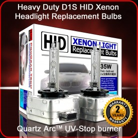 ProGear Tech Heavy Duty D1S D1R 4300K HID Xenon Headlight Replacement Bulbs (Pack of 2, OEM Light Yellow)