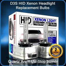 ProGear Tech Heavy Duty D3S D3R 10000K Brillianr HID Xenon Headlight Replacement Bulbs (Pack of 2)