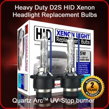 ProGear Tech Heavy Duty D2S D2R 10000K HID Xenon Headlight Replacement Bulbs (Pack of 2)