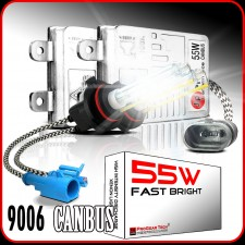 55W 9006(HB4) Heavy Duty Fast Bright CANBUS AC HID Xenon Conversion Kit No OBC Error