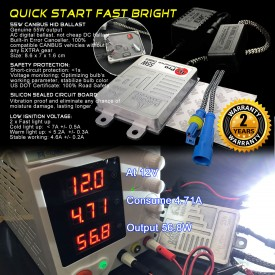 55W H8/H9/H11 (they are same)  Heavy Duty Fast Bright CANBUS AC HID Xenon Conversion Kit No OBC Error