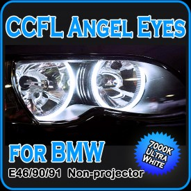 CCFL Angel Eyes Halo Rings E46 E90 E91 with Non-Projector headlights