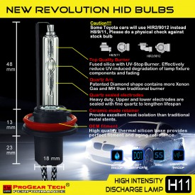 55W H8/H9/H11(they are same) Heavy Duty Fast Bright AC Digital HID Xenon Conversion Kit Germany Technology