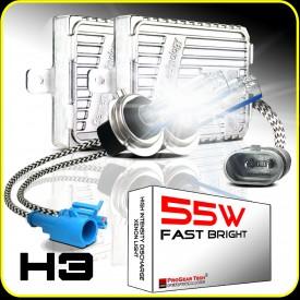 55W H3 Heavy Duty Fast Bright AC Digital HID Xenon Conversion Kit Germany Technology