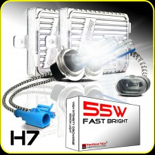 55W H7 Heavy Duty Fast Bright AC Digital HID Xenon Conversion Kit Germany Technology